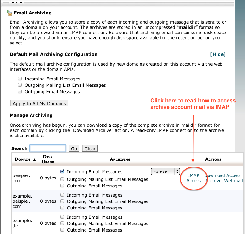 CPanel IMAP Access instruction Link.png